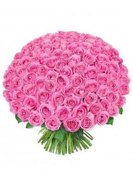 101 Розовая роза Аква (Aqua) 50см