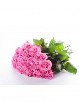 15 Розовых роз Аква (Aqua) 40см