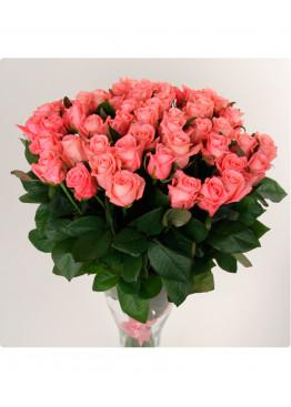 29 Розовых роз Аква (Aqua) 40см