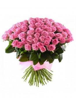 51 Розовая роза Аква (Aqua) 40см