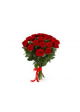 17 красных роз Ред Наоми (Red Naomi) 60см