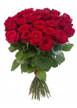 21 красная роза Ред Наоми (Red Naomi) 60см