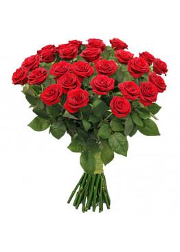 27 красных роз Ред Наоми (Red Naomi) 60см
