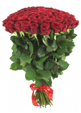 39 красных роз Ред Наоми (Red Naomi) 60см