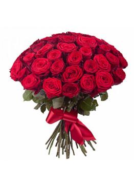 43 красных роз Ред Наоми (Red Naomi) 60см
