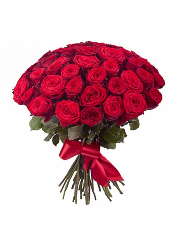 43 красных роз Ред Наоми (Red Naomi) 40см
