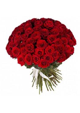 51 красная роза Ред Наоми (Red Naomi) 90см