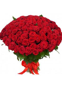 59 красных роз Ред Наоми (Red Naomi) 40см