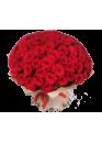 65 красных роз Ред Наоми (Red Naomi) 40см
