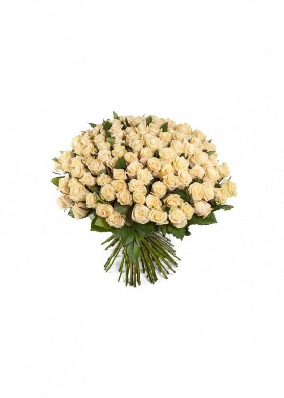 101 Кремово-розовая роза Талея (Talea) 50см