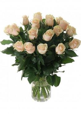15 Кремово-розовых роз Талея (Talea) 40см