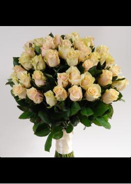 21 Кремово-розовая роза Талея (Talea) 40см