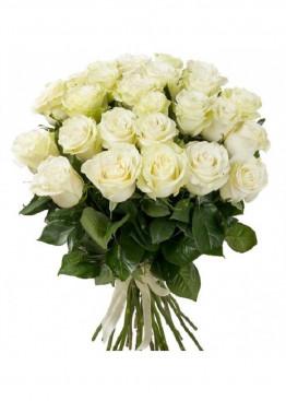21 Белая роза Вайт Наоми (White Naomi) 40см