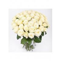 35 Белых роз Вайт Наоми (White Naomi) 70см