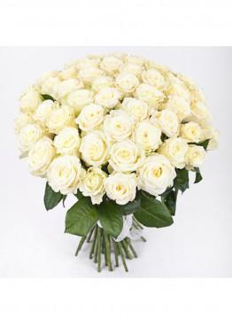 31 Белая роза Вайт Наоми (White Naomi) 40см