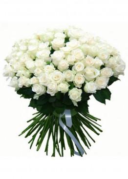 41 Белая роза Вайт Наоми (White Naomi) 40см