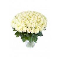 51 Белая роза Вайт Наоми (White Naomi) 40см