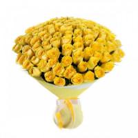 101 Жёлтая роза Пенни Лэйн (Penny Lane) 50см