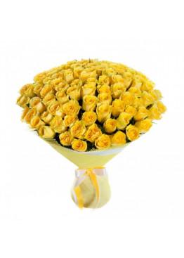 101 Жёлтая роза Пенни Лэйн (Penny Lane) 60см