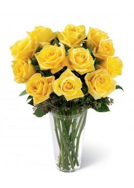 15 Жёлтых роз Пенни Лэйн (Penny Lane) 40см