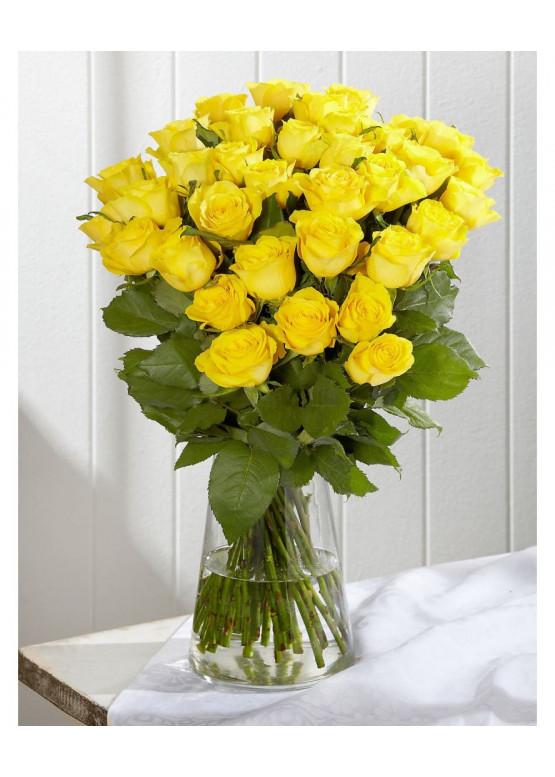 35 Жёлтых роз Пенни Лэйн (Penny Lane) 40см