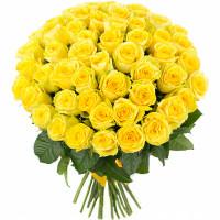 51 Жёлтая роза Пенни Лэйн (Penny Lane) 40см