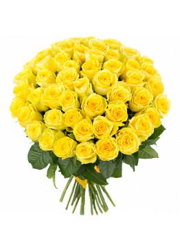 55 Жёлтых роз Пенни Лэйн (Penny Lane) 60см